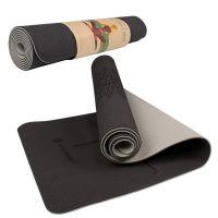 Saltea yoga Springos, 183x61 cm, gri/negru