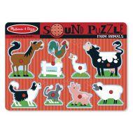 Melissa&Doug - Puzzle de lemn cu sunete Animale de la Ferma