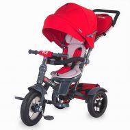 Coccolle - Tricicleta spatar reglabil si reversibil Giro Plus Rosu