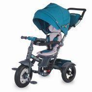 Coccolle - Tricicleta spatar reglabil si reversibil Giro Plus Albastru