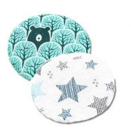 Set 2 pernute anticolici cu samburi de cirese Kidizi Animals All Mint Stars, 19 cm