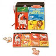 Melissa&Doug - Cartea din lemn cu animale magnetice
