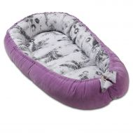 Cosulet bebe Kidizi Baby Nest Cocoon velvet 90x50 cm Purple Orchid, husa interior 100% bumbac