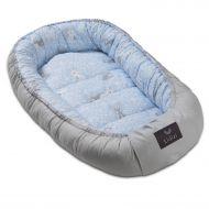 Cosulet bebelus pentru dormit Kidizi Baby Nest Cocoon XL 110x70 cm Blue Bunny