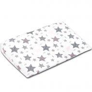 Perna antireflux 40x59 cm Kidizi All Pink Stars, husa bumbac si protectie impermeabila detasabila