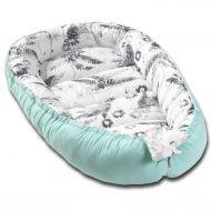 Cosulet bebelus pentru dormit Kidizi Baby Nest Cocoon 90x50 cm Mint Orchid