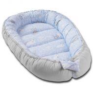 Cosulet bebelus pentru dormit Kidizi Baby Nest Cocoon XXL 110x70 cm Blue Bunny