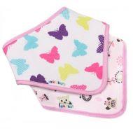 Set 2 bavete textile tip esarfa Akuku Butterfly