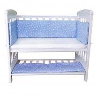 Set aparatori si cearsaf pentru pat cosleeper Dreamy Mini Sweet Stars Blue