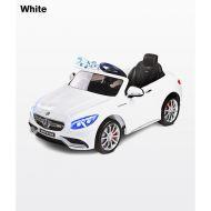 Masinuta electricaToyz Mercedes-Benz S63 AMG 12V White cu telecomanda