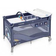 Baby Design patut pliabil cu 2 nivele Dream Blue