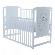 Baby Needs - Patut din lemn Timmy Ursulet cu laterala culisanta
