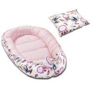 Cosulet bebelus pentru dormit Kidizi Baby Nest + pernuta plagiocefalie Kidizi Swallows