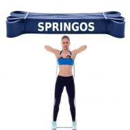 Banda elastica Power Band Springos cu intensitate foarte mare, 2080x64x4,5 mm, 37-46 kg