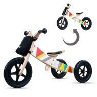 Bicicleta din lemn fara pedale 2 in 1 transformabila Twist Classic