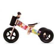Bicicleta din lemn fara pedale 2 in 1 transformabila Sun Baby Twist Mosaic