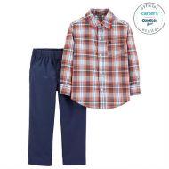 Set elegant de 2 piese camasa si pantaloni Carters