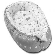 Cosulet bebelus pentru dormit Kidizi Baby Nest Cocoon XXL 110x70 cm Galaxy Grey
