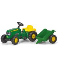 Rolly Toys - Tractor cu pedale si remorca 012190