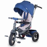 Coccolle - Tricicleta spatar reglabil si reversibil Corso Albastru
