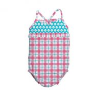 Costum de baie fetita cu scutec inot integrat IPlay Pink 18 luni SPF50+