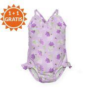 Costum de baie fetita cu scutec inot integrat IPlay Sweet 18 luni SPF50+