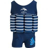 Konfidence - Costum inot copii cu sistem de flotabilitate ajustabil blue stripe 4-5 ani