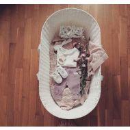 Cosulet bebe pentru dormit handmade din material ecologic Ahoj Baby alb