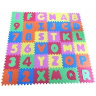 Covoras joaca Puzzle Alphabet and Numbers 36 piese