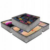 Organizator sertar compartimentat gri, set 4 bucati