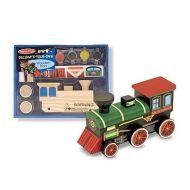 Melissa&Doug - Trenulet din lemn de asamblat si pictat