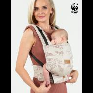 Marsupiu ergonimic ajustabil compact Isara quick full buckle Wildlife Sandy