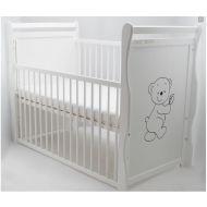 Baby Needs - Patut lemn Jas Ursulet cu laterala culisanta