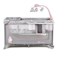 Kinderkraft - Patut pliabil Joy Completo Pink