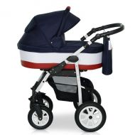 Krausman - Carucior 3 in 1 Kraus Jet Dark Blue-White