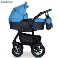 Krausman - Carucior 3 in 1 Kraus Clasic Blue