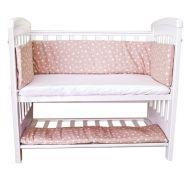 Aparatori laterale pentru pat cu laterala culisanta 120x60 cm Sweet Stars Bej