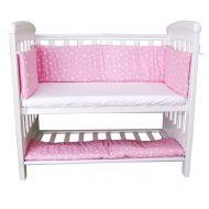 Aparatori laterale pentru pat cu laterala culisanta 120x60 cm Sweet Stars Pink