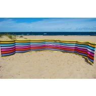 Paravan pentru plaja pliabil 6 m multicolor Springos