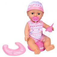 Papusa Simba Bebe Darling 30 cm cu olita roz deschis