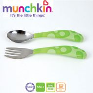 Munchkin - Set 2 tacamuri Lingurita si Furculita Inox 12L+ Verde