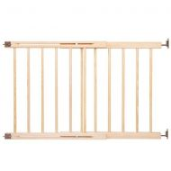Springos  - Poarta de siguranta extensibila din lemn natur 72-122 cm Wooden