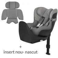 Scaun auto rotativ Cybex Sirona S2 I-Size Soho Grey cu Isofix, insert nou-nascut inclus