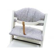 Set pernute pentru scaun masa Treppy Stars Gray