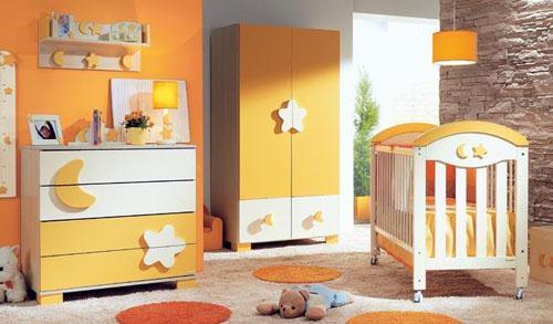 mobila-copii-portocalie