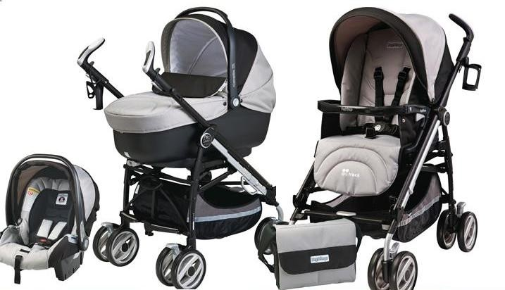 Peg Perego - Carucior 3 in 1 Pliko Switch On Track London