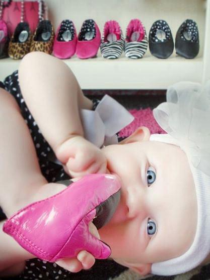 pantofi bebe cu toc