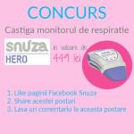 Concurs - castiga un monitor de respiratie Snuza