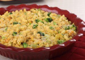 Paste cu broccoli si branza de vaca la cuptor
